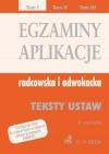 Egzaminy aplikacje radcowska i adwokacka t.1