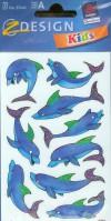 Naklejki na błyszczącym papierze Delfiny