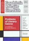 EBOOK Zagadnienia Rodzajów Literackich t. 55/109 z.1