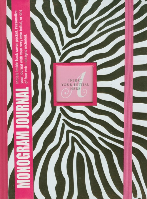 Notatnik Monogram Zebra - brak
