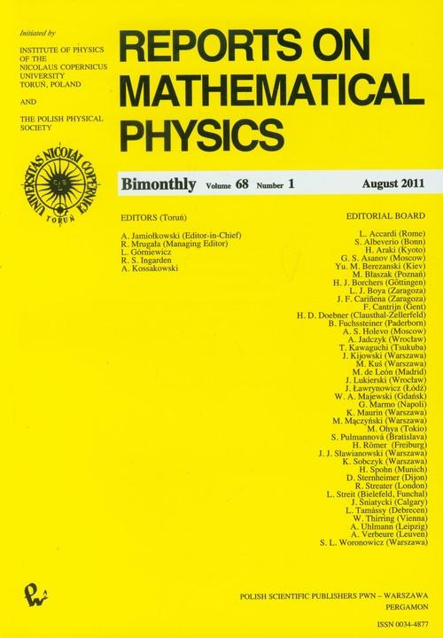 Reports on Mathematical Physics 68/1 Kraj - brak