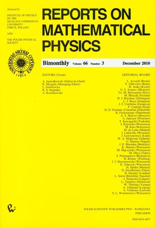 Reports on Mathematical Physics 66/3 2010 Kraj - brak