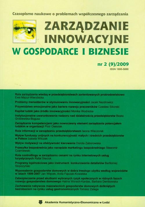 Zarządzanie innowacyjne w gospodarce i biznesie nr 2 (9)/2009