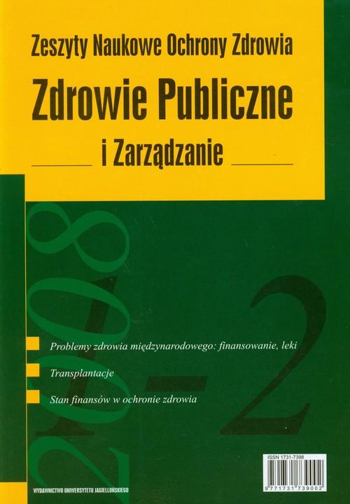 Zdrowie Publiczne i Zarządzanie tom 6 nr 1-2/2008
