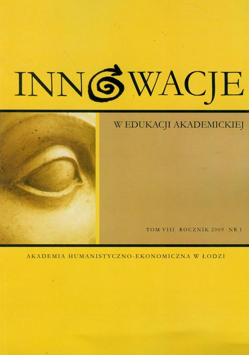 Innowacje w edukacji akademickiej 7 (1) 2009