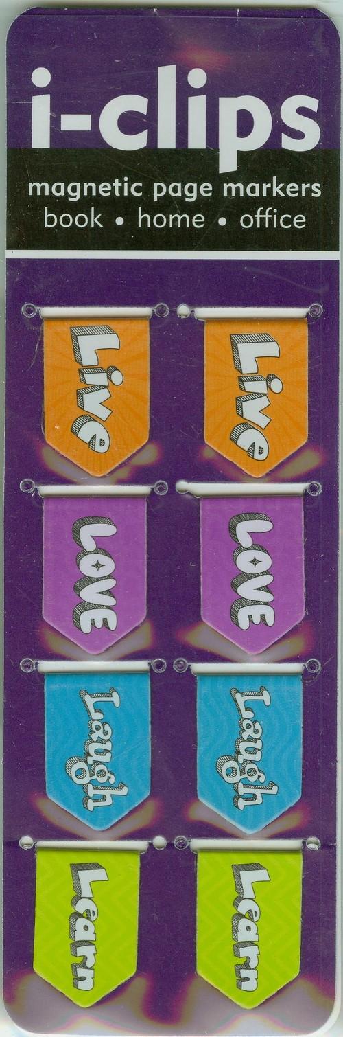 Zakładka magnetyczna Żyj kochaj - brak