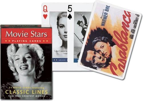 Karty do gry Piatnik 1 talia Gwiazdy filmowe - brak