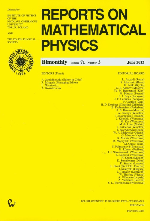 Reports on Mathematical Physics 54/3 - brak