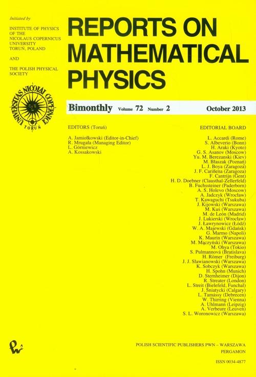Reports on Mathematical Physics 72/2 - brak