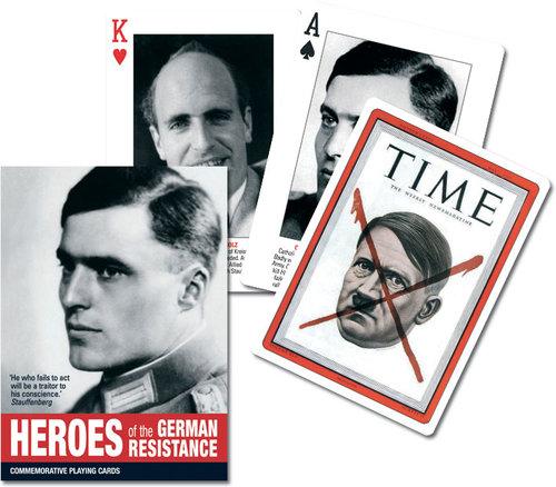 Karty do gry Piatnik 1 talia Bohaterowie niemieckiego oporu - brak