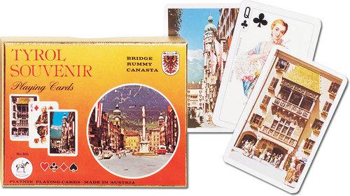 Karty do gry Piatnik 2 talie Tyrol - brak