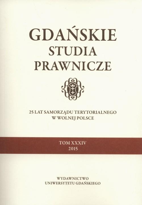 Gdańskie studia prawnicze Tom 34 - brak