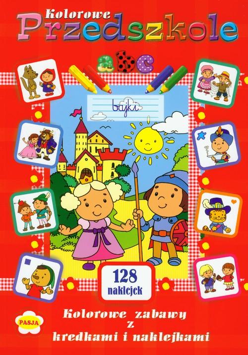 Kolorowe przedszkole Kolorowe zabawy z kredkami i naklejkami - brak