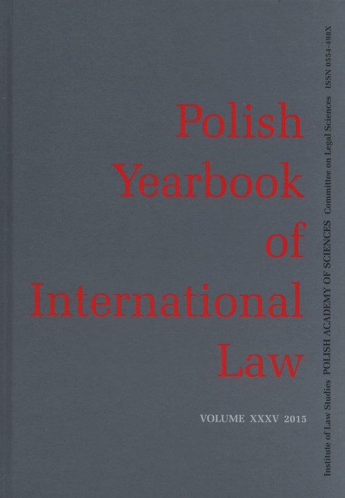 Polish yearbook of international law XXXV 2015 - brak
