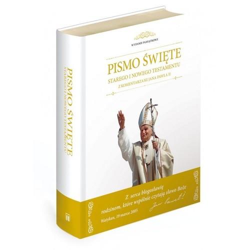 Pismo Święte Starego i Nowego Testamentu z komentarzami Jana Pawła II - brak