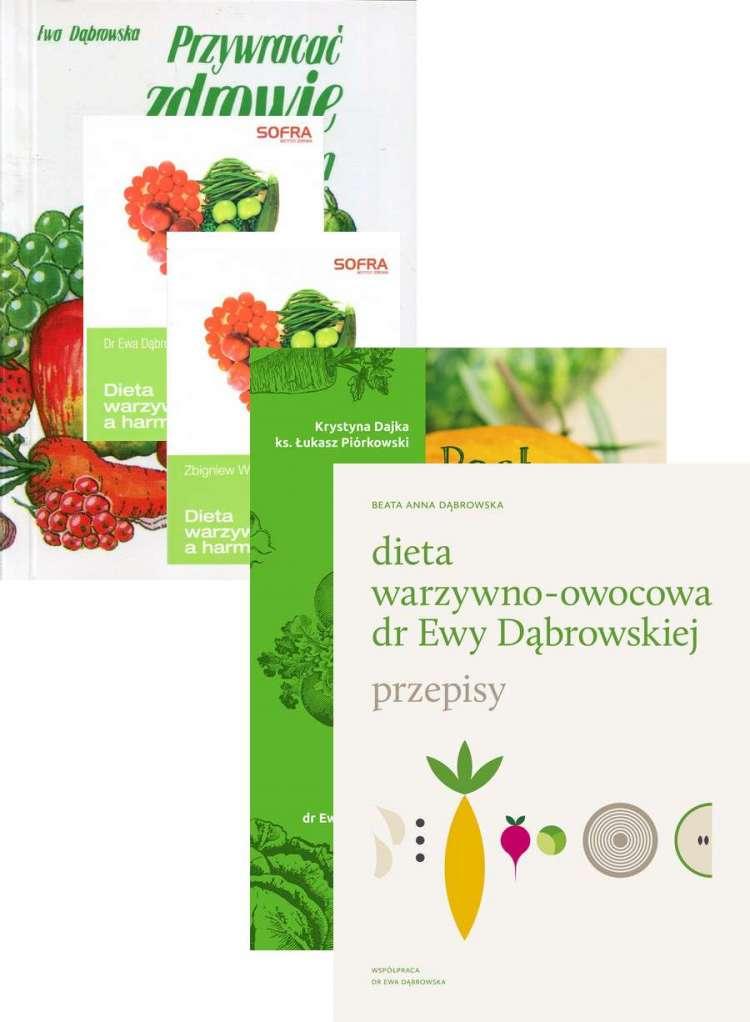 Zestaw 5x Dieta Warzywno Owocowa Dr Ewy Dabrowskiej A Harmonia