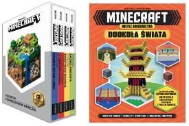 [Zestaw] Minecraft Kolekcja podręczników gracza w ETUI 2017 + Minecraft Mistrz budownictwa Dookoła świata
